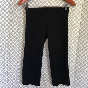 "Under Armour black split workout crop 18"" leggings"